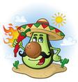 avocado mexican cartoon character vector image vector image