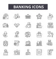 banking line icons for web and mobile design vector image vector image