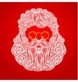 Beard and mustache of Santa Claus vector image