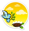 bird and nest vector image vector image
