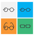 black glasses icon collection vector image vector image