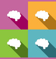 brain icon with shade on different colors vector image vector image