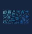 cashback blue outline banner - cash back vector image vector image