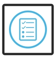 Checklist Page Framed Icon vector image