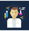 chemist scientist lab vector image vector image