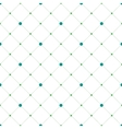 Circles and diamonds seamless pattern vector image