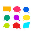 color mockup retro speech bubbles set vector image