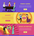 colorful casino horizontal banners vector image vector image
