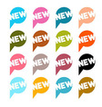 Colorful Flat Design Stickers - Labels Set with vector image vector image