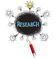 concept pencil idea isolate write blue research vector image