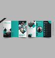 corporate tri fold brochure vector image vector image