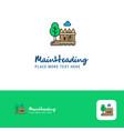 creative garden logo design flat color logo place vector image
