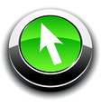 Cursor 3d round button vector image vector image