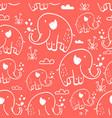 cute elephants seamless pattern print design vector image vector image