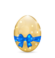 Easter paschal egg with blue bow isolated on white vector image vector image