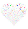 edit pencil fireworks heart vector image vector image