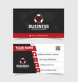 elegant red shaped business card print template vector image vector image