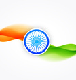 flag of india with wave flowing vector image vector image