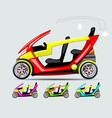 flat electric car with removable roof vector image vector image