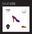flat icon clothes set of underclothes uniform vector image vector image