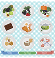 food for brain and health vector image vector image