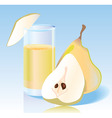 fresh pear juice vector image vector image