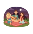 Friends picnicking summer vector image