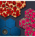 geometric badges set trendy minimal design eps10 vector image vector image