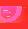geometrical pink wave shape landing page vector image vector image