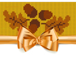 Gift Bow with Autumn Knitted Pattern 3 vector image vector image