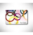 Gift Card with colorful ring vector image