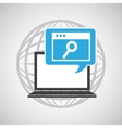globe computer web search communication vector image vector image