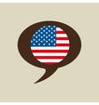 Globe sphere flag usa country button graphic vector image