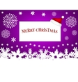 hat santa claus with a blank white banner vector image