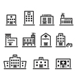 hospital icon set vector image vector image