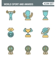 Icons line set premium quality of Sport and awards vector image vector image