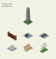 isometric city set of recreation barrier dc vector image vector image