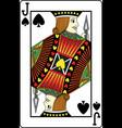 jack of spades vector image vector image