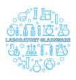 laboratory glassware concept round line vector image