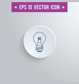 lightbulb symbol icon on gray shaded background vector image vector image