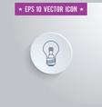 lightbulb symbol icon on gray shaded background vector image
