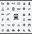 logistics icons universal set for web and ui vector image