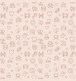 love concept pink seamless pattern in thin vector image vector image