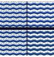 marine zigzag with polka dot vector image