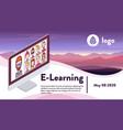 media social e-learning communication vector image