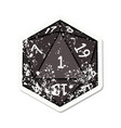 natural 1 d20 dice roll grunge sticker vector image vector image