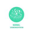 normal sperm male fertility concept icon vector image vector image