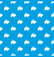 pig money box pattern seamless blue vector image vector image