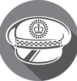 Police Hat Icon vector image vector image