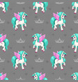 pretty unicorn seamless pattern for girls vector image